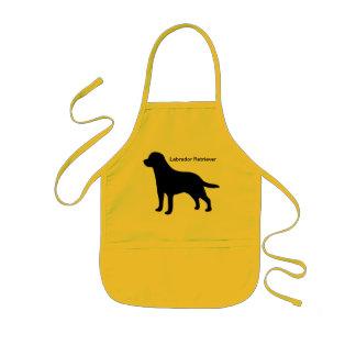 Labrador Retriever black silhouette dog kids apron