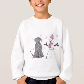 Labrador Retriever Black & Snowman Sweatshirt