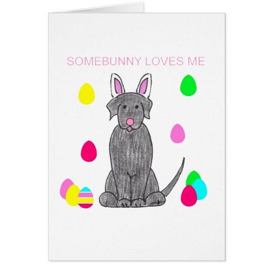 Labrador Retriever Black Somebunny Loves Me Card