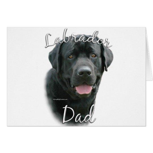 Labrador Retriever (blk) Dad 2 Card