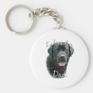Labrador Retriever (blk) Dad 2 Keychain