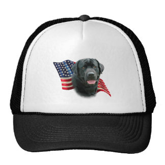 Labrador Retriever (blk) Flag Trucker Hat