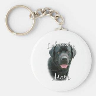 Labrador Retriever (blk) Mom 2 Keychain