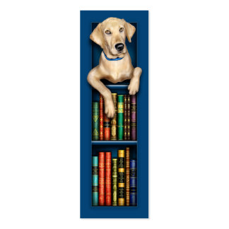 Labrador Retriever Blue Bookmark Double-Sided Mini Business Cards (Pack Of 20)