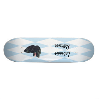 Labrador Retriever ~ Blue w/ White Diamonds Skateboard