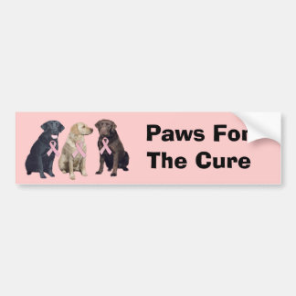 Labrador Retriever Breast Cancer Bumper Sticker