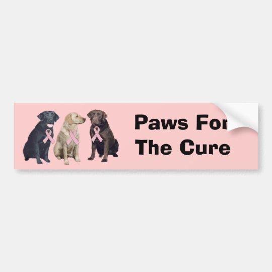 Labrador Retriever Breast Cancer Bumper Sticker