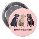 Labrador Retriever Breast Cancer Button