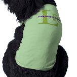 Labrador Retriever Breed Monogram Design Shirt