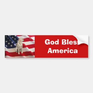 Labrador Retriever Bumper Sticker America