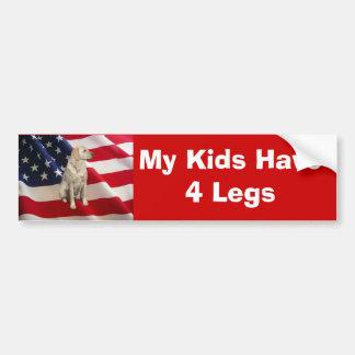 Labrador Retriever Bumper Sticker My Kids Car Bumper Sticker