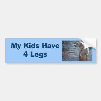 Labrador Retriever Bumper Sticker My Kids