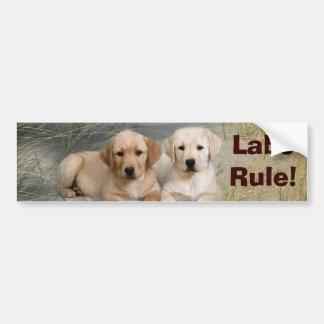 Labrador Retriever Bumper Sticker Puppies Rule Car Bumper Sticker