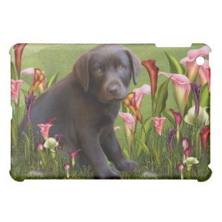 Labrador Retriever Calla Lily Green  Cover For The iPad Mini