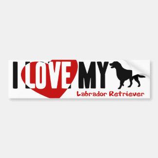 Labrador Retriever Car Bumper Sticker