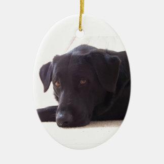 labrador retriever ceramic ornament