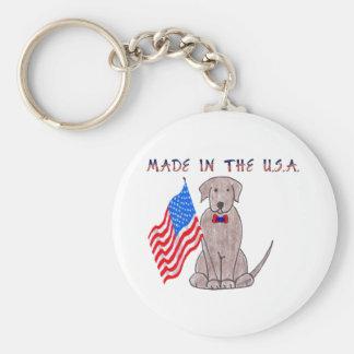 Labrador Retriever Choc - Made In The USA Keychain