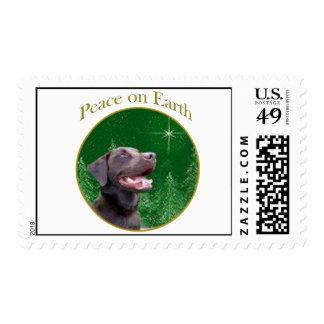 Labrador Retriever (choc) Peace Postage Stamp