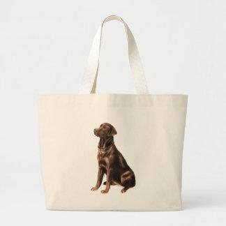 Labrador Retriever - Chocolate 1 Tote Bags