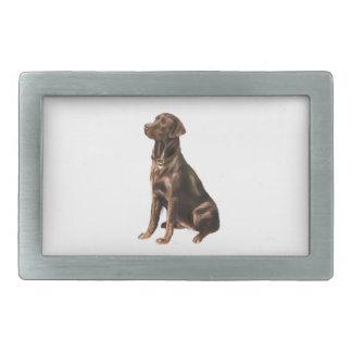 Labrador Retriever - Chocolate 1 Rectangular Belt Buckles