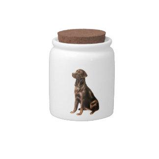 Labrador Retriever - Chocolate 1 Candy Jars