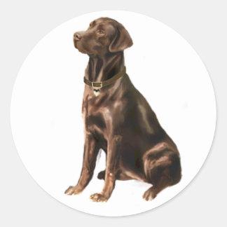 Labrador Retriever - Chocolate 1 Classic Round Sticker