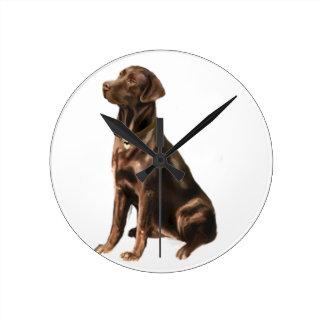Labrador Retriever - Chocolate 1 Round Wallclock