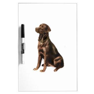 Labrador Retriever - Chocolate 1 Dry-Erase Whiteboards