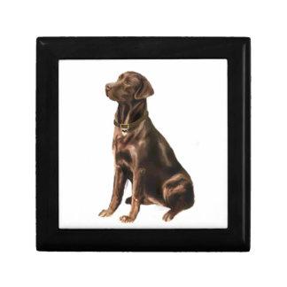 Labrador Retriever - Chocolate 1 Keepsake Box