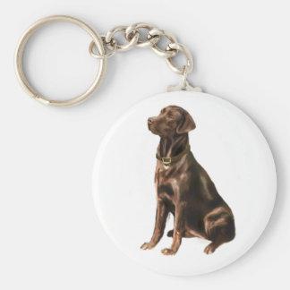 Labrador Retriever - Chocolate 1 Key Chain