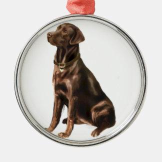 Labrador Retriever - Chocolate 1 Metal Ornament