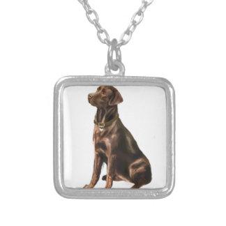 Labrador Retriever - Chocolate 1 Personalized Necklace