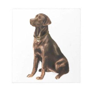 Labrador Retriever - Chocolate 1 Memo Notepads