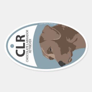 Labrador Retriever Chocolate 1 Oval Sticker