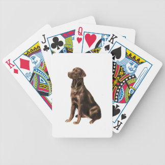 Labrador Retriever - Chocolate 1 Bicycle Poker Deck