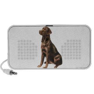 Labrador Retriever - Chocolate 1 Travelling Speakers