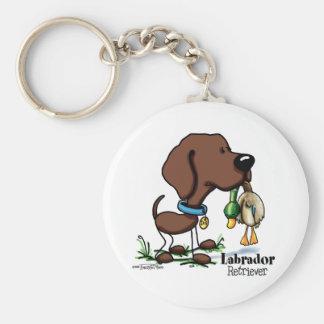 Labrador Retriever - Chocolate Basic Round Button Keychain