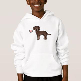 Labrador Retriever Chocolate Brown Love Hoodie