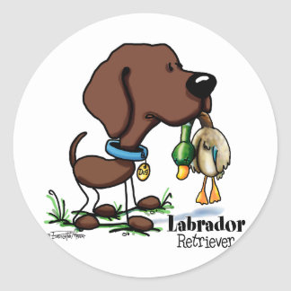 Labrador Retriever - Chocolate Classic Round Sticker