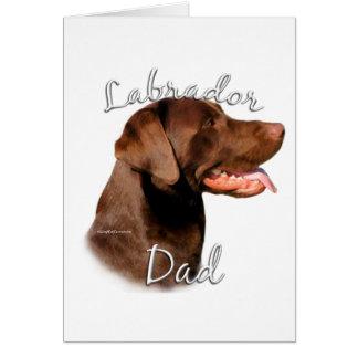 Labrador Retriever (chocolate) Dad 2 Card