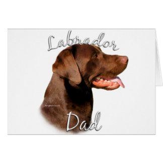 Labrador Retriever (chocolate) Dad 2 Greeting Card