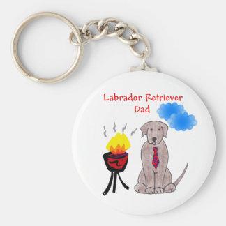 Labrador Retriever Chocolate - Dad Keychain