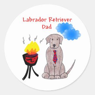 Labrador Retriever Chocolate - Dad Sticker