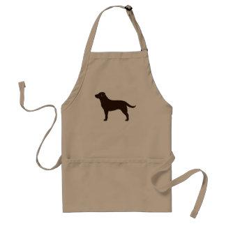 Labrador retriever (chocolate) delantal