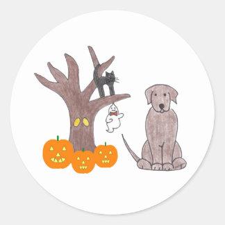 Labrador Retriever Chocolate Fall Sticker