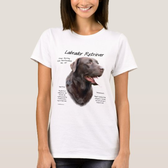 Labrador Retriever (chocolate) History Design T-Shirt