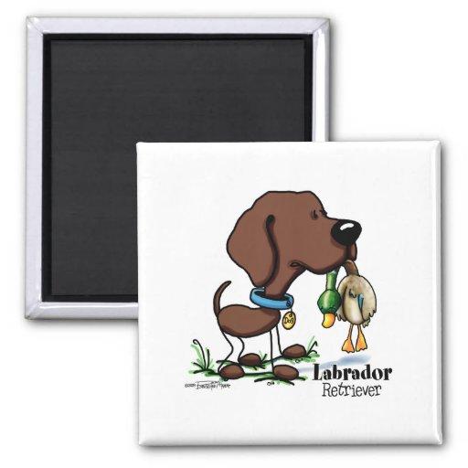 Labrador retriever - chocolate imán cuadrado