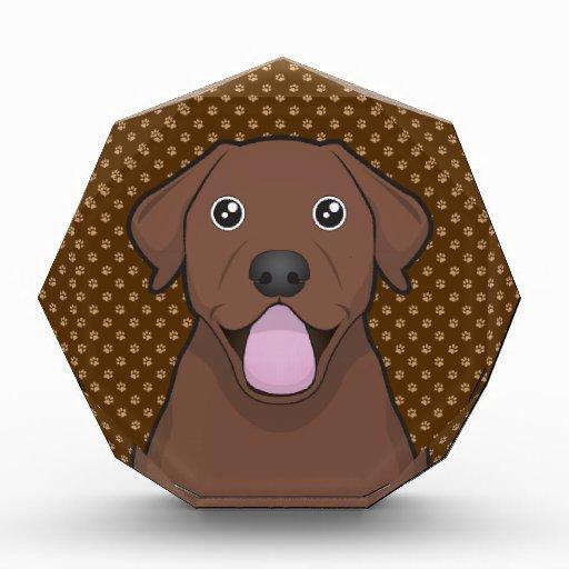 Labrador Retriever (Chocolate Lab) Cartoon Paws Award