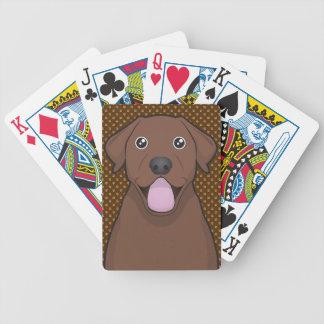 Labrador Retriever (Chocolate Lab) Cartoon Paws Bicycle Playing Cards