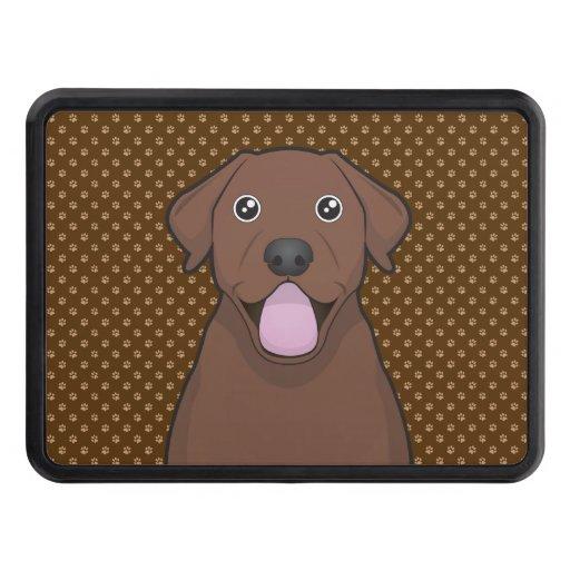 Labrador Retriever (Chocolate Lab) Cartoon Paws Hitch Cover